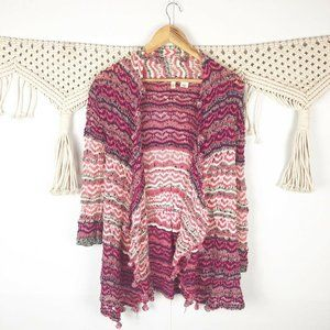 Anthropologie Moth Kasimira Crocheted Open front